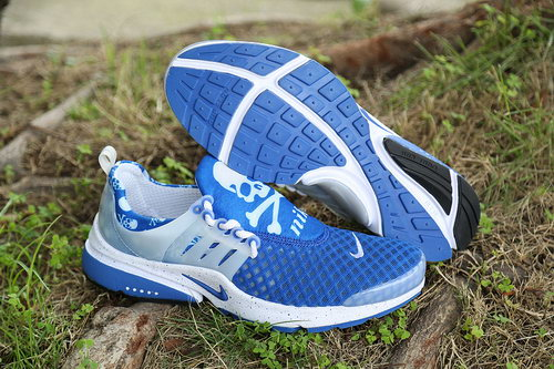 Womens Nike Air Presto Skull White Blue Outlet Store