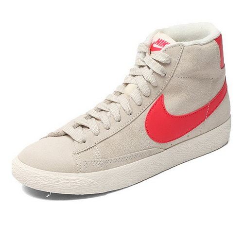 Womens Nike Blazer High I Beige Red Outlet Online