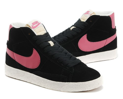 Womens Nike Blazer High I Black Pink Ireland