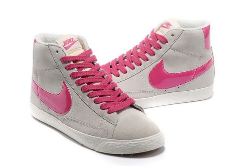 Womens Nike Blazer High I Grey Pink Greece
