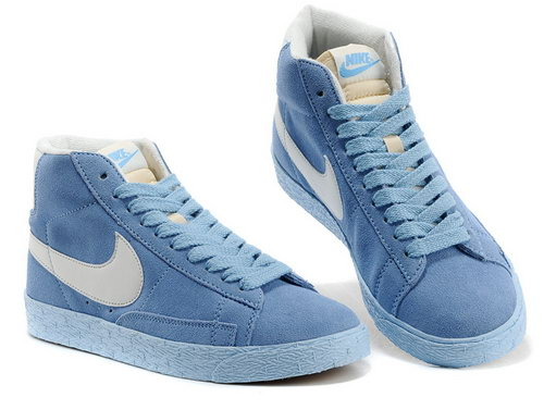 Womens Nike Blazer High I Light Blue White Reduced