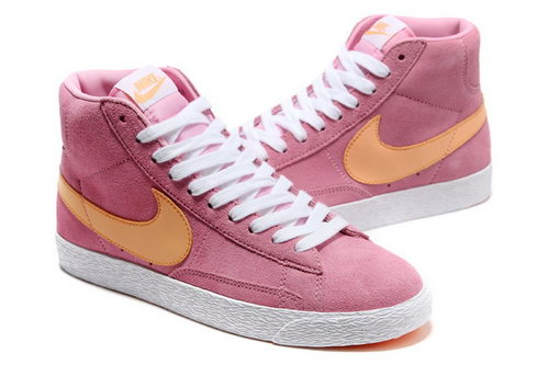 Womens Nike Blazer High I Pink Orange Hong Kong