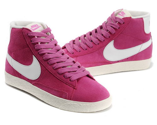 Womens Nike Blazer High I Pink White France