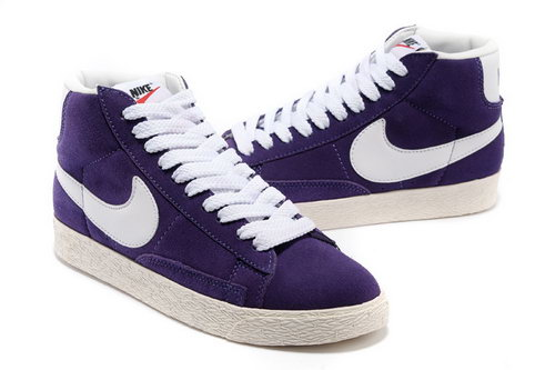 Womens Nike Blazer High I Purple White Taiwan