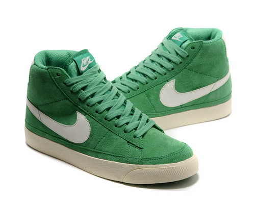 Womens Nike Blazer High Ii Green White Review
