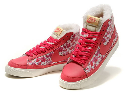 Womens Nike Blazer High Red Rose Feathers Online Shop