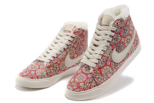 Womens Nike Blazer High Red Sun Feathers Spain