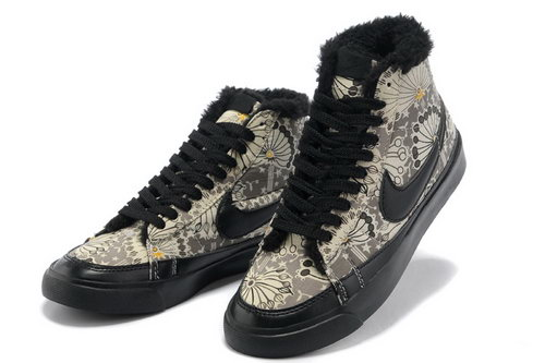 Womens Nike Blazer Low Black Sun Flower Feathers Italy