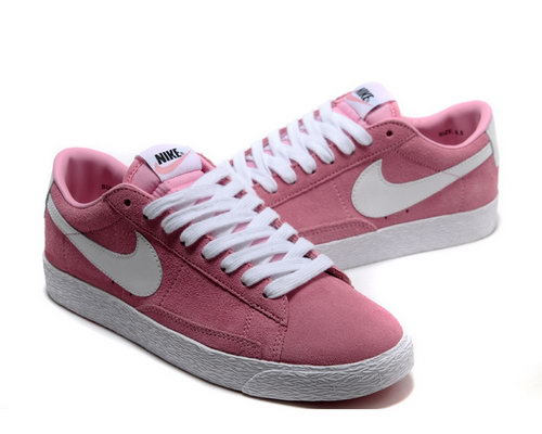Womens Nike Blazer Low I Light Pink White New Zealand