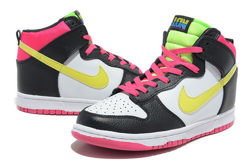 Womens Nike Dunk High London- Black Yellow White Germany
