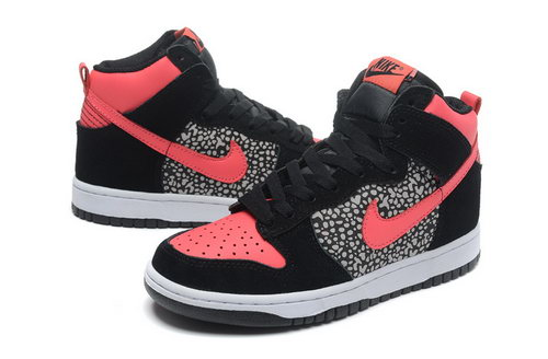 Womens Nike Dunk High Valentines Day - Black & Reddish Orange Coupon