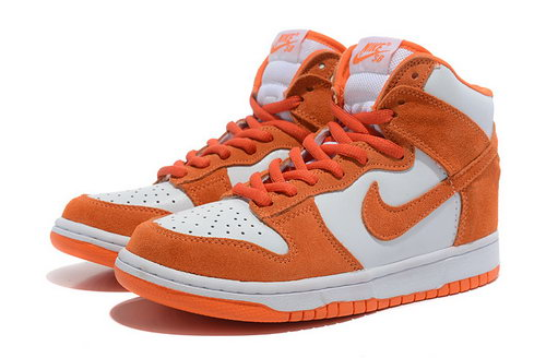 Womens Nike Dunk High White & Orange Sweden