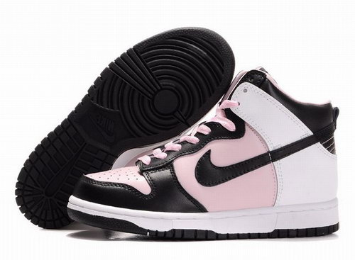 Womens Nike Dunk High Black Pink White Hong Kong
