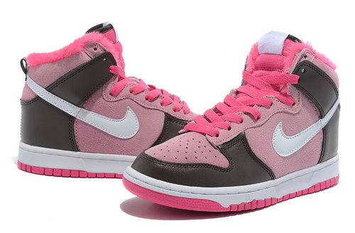 Womens Nike Dunk High Brown Pink Taiwan