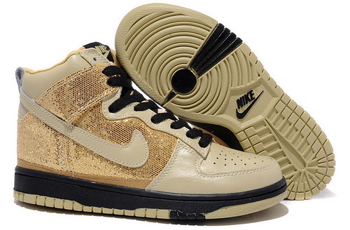Womens Nike Dunk High Gold Sand Spain