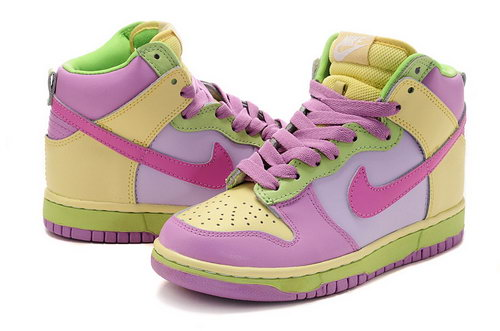 Womens Nike Dunk High Pink World - New Zealand