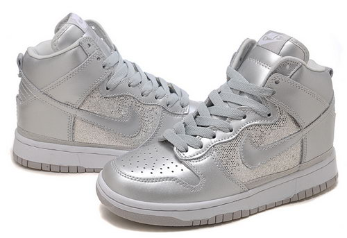 Womens Nike Dunk High Silver Sand Low Price