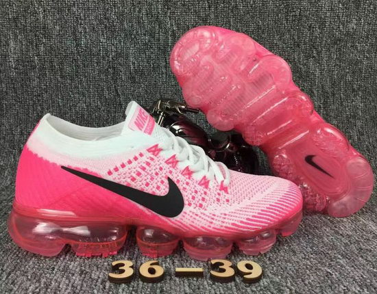 Womens Nike Flyknit Air Vapormax 2018 Pink White Black On Sale