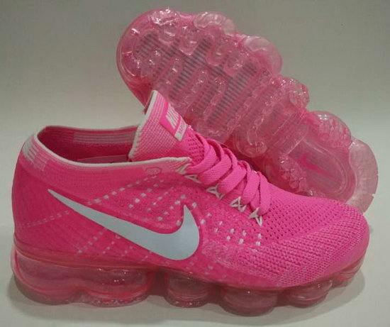 Womens Nike Flyknit Air Vapormax 2018 Pink White Greece