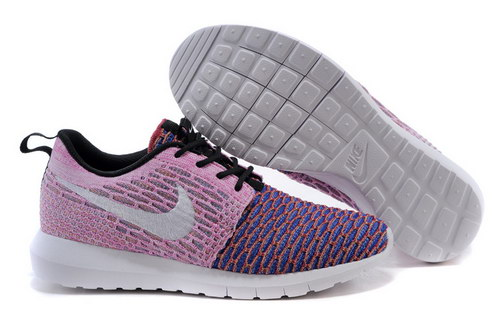 Womens Nike Flyknit Roshe Run Blue And Purple Discount
