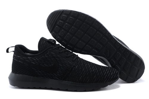 Womens Nike Flyknit Roshe Run Midnight Fog On Sale