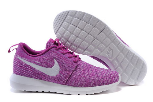 Womens Nike Flyknit Roshe Run Purple White Hong Kong