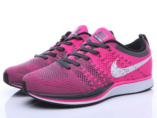 Womens Nike Flyknit Trainer Pink Grey Canada