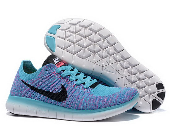 Womens Nike Free Flyknit 5.0 V2 Light Blue Black Germany