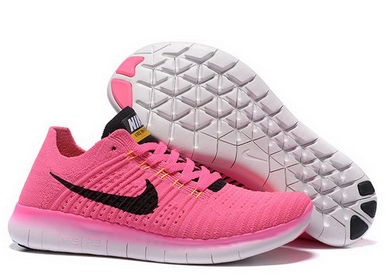 Womens Nike Free Flyknit 5.0 V2 Pink Black Factory Outlet
