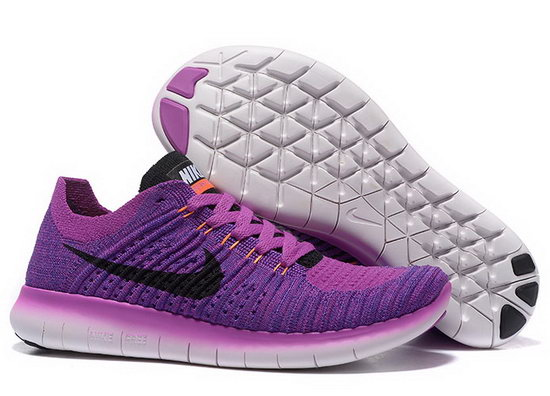 Womens Nike Free Flyknit 5.0 V2 Purple Black Inexpensive
