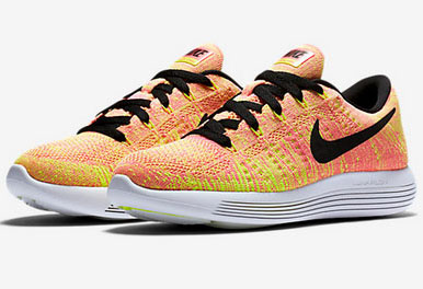 Womens Nike Lunarepic Low Flyknit Pink Fluorescent Yellow 36-39 France