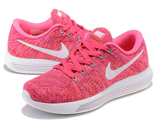 Womens Nike Lunarepic Low Flyknit Pink White 36-39 Taiwan