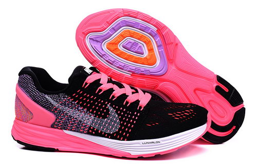 Womens Nike Lunarglide 7 Black Pink Factory Outlet