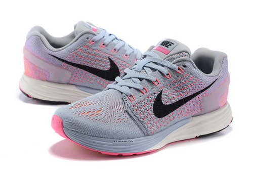 Womens Nike Lunarglide 7 Grey Peach Low Price