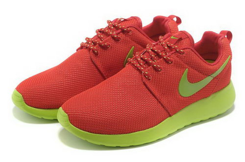 Womens Nike Roshe Run Red Green Clearance