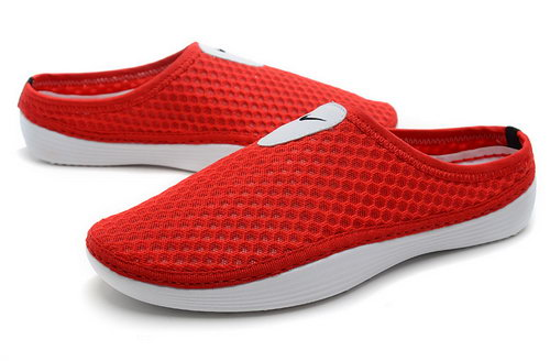Womens Nike Trainers Solarsoft Mule Slide Sandals Red Clearance
