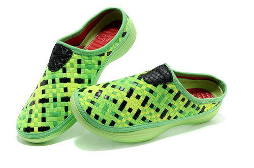 Womens Nike Trainers Solarsoft Mule Woven Premium Sport Green Black Sandals Korea