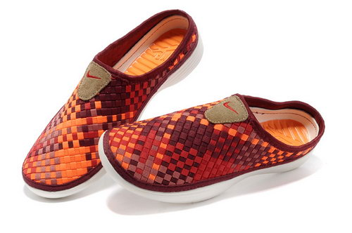 Womens Nike Trainers Solarsoft Mule Woven Premium Sport Orange Red Sandals Netherlands
