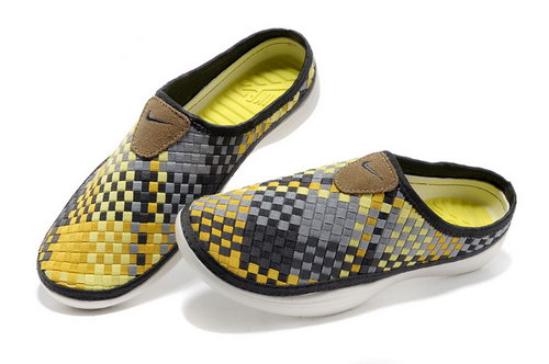Womens Nike Trainers Solarsoft Mule Woven Premium Sport Yellow Black Sandals Best Price