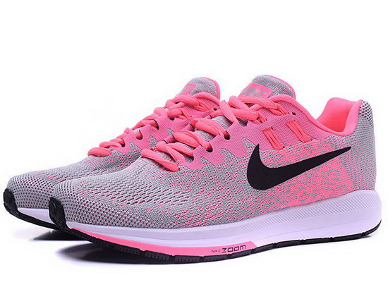 Womens Nike Zoom Structure 20 Light Grey Pink 36-40