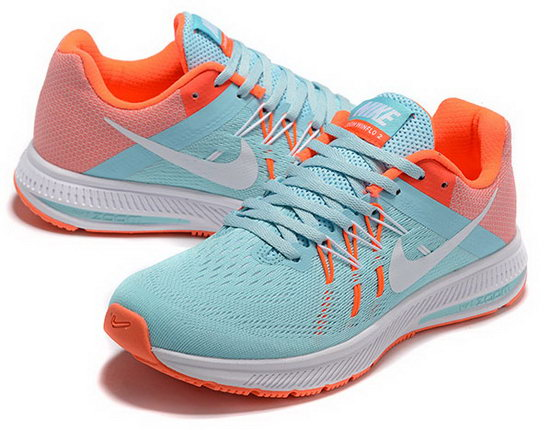 Womens Nike Zoom Winflo 2 Light Grey Jade Orange 36-39 Factory Outlet