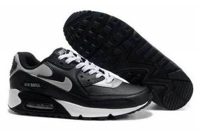 Mens Nike Air Max 90 Black Grey White Denmark