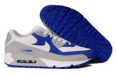 Nike Air Max 90 Mens Shoes White Royal Grey Denmark