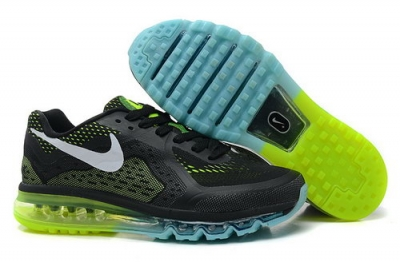 Air Max 2014 Mens Shoes Black Green Blue White Switzerland