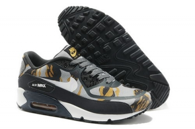 Wmns Nike Air Max 90 Prem Tape Sn Men Gray And Yellow Running Shoes Low Price