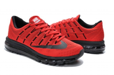 Mens Nike Air Max 2016 Red Black New Zealand