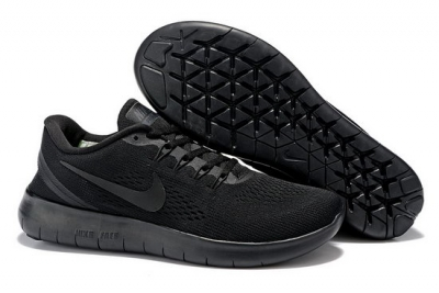 Mens Nike Free Running All Black Factory