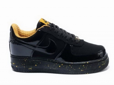 Mens Nike Air Force 1 07 Black Gold Japan