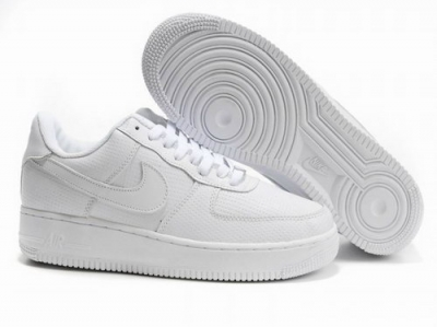 Mens Nike Air Force 1 25th Low Shoes All White Low Cost