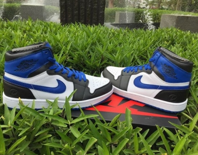 Air Jordan Retro 1 White Black Blue Low Cost